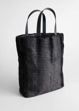 And other stories Large Faux Fur Tote