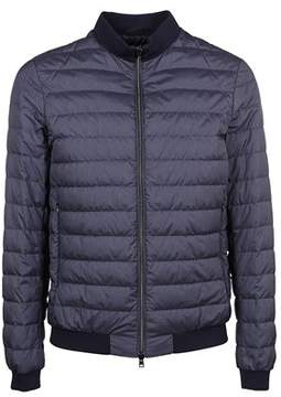 Herno Men's Pi0457u131349201 Blue Polyamide Down Jacket.