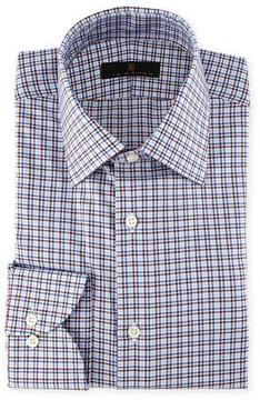 Ike Behar Check-Print Cotton Dress Shirt