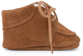 Tartine et Chocolat Fur-lined leather slippers