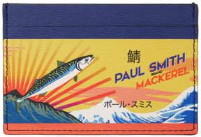 Paul Smith Multicolor Mackerel Can Card Holder