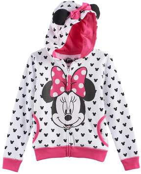 Disney Disney's Minnie Mouse Girls 4-6x 3D Ears & Bow Hoodie