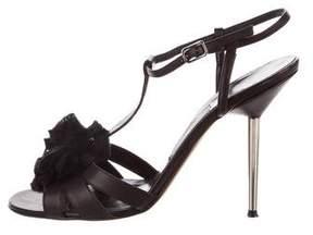 Lanvin Leather T-Strap Sandals