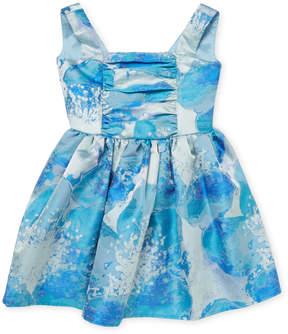 Halabaloo V-Back and Big Bow Floral Dress