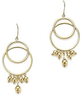 Bloomingdale's 14K Yellow Gold Beaded Double Circle Drop Earrings - 100% Exclusive