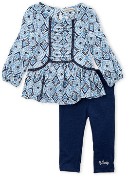 Lucky Brand Infant Girls) Two-Piece Printed Tunic & Leggings Set