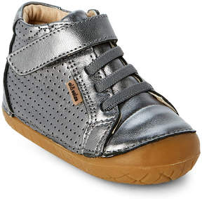 Old Soles Toddler Boys) Rich Silver Pave Cheer Leather Shoes