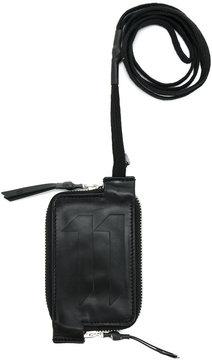 11 By Boris Bidjan Saberi logo embossed zip wallet