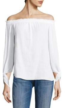 Generation Love Cynthia Off-The-Shoulder Cotton Gauze Top