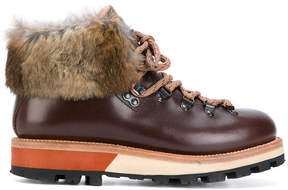 Woolrich fur trim boots