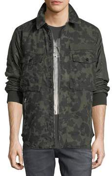 G Star G-Star Type C Camouflage-Print Over-Shirt Jacket