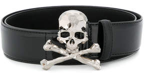 Philipp Plein skull plaque belt