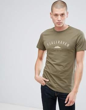 Fjallraven Trekking Logo T-Shirt in Khaki