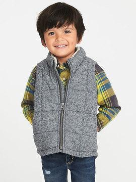 Old Navy Sherpa-Trim Frost-Free Vest for Toddler Boys