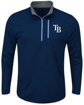 Majestic Men's Tampa Bay Rays Six-Four-Three Quarter-Zip Pullover