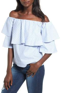 WAYF Gracie Off-the-Shoulder Blouse