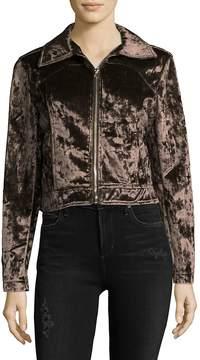 C&C California Women's Velvet Moto Jacket