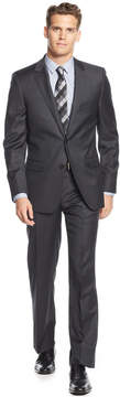 DKNY Charcoal Solid Extra-Slim-Fit Suit