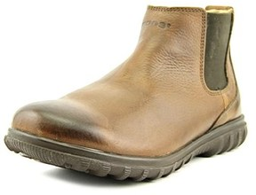 Bogs Eugene Men Round Toe Leather Brown Boot.