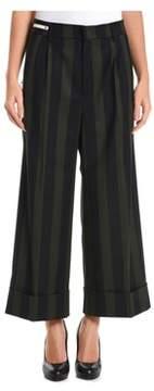 Berwich Women's Black/green Wool Pants.