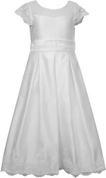 Bonnie Jean Girls 7-16 Organza Pleated Illusion Dress