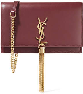 Saint Laurent Monogramme Kate Leather Shoulder Bag - Merlot - MERLOT - STYLE