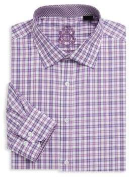 English Laundry Plaid Cotton Dress Shirt