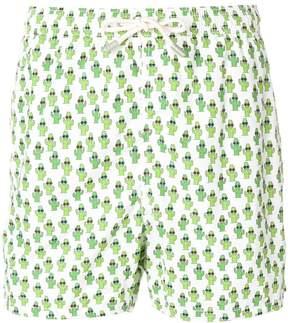 MC2 Saint Barth cactus print swim shorts