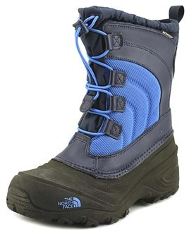 The North Face Alpenglow Iv Youth Round Toe Canvas Blue Mid Calf Boot.