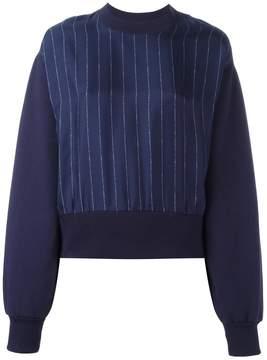 Each X Other contrast pinstripe sweatshirt