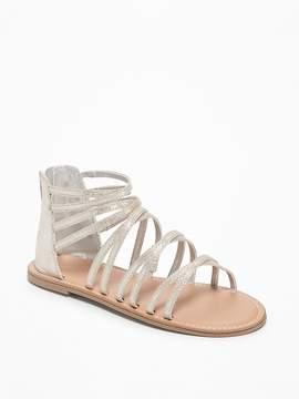 Old Navy Sueded Metallic Gladiator Sandals for Girls