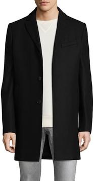 J. Lindeberg Men's Wolger Compact Melton Wool Coat