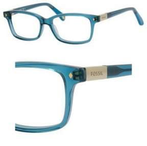 Fossil Eyeglasses 6047 048F Transparent Petroleum