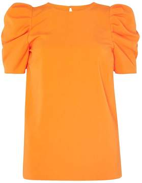 Dorothy Perkins **Tall Orange Puff Sleeve Top