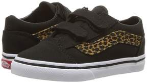 Vans Kids Old Skool V Brown/True White) Girls Shoes