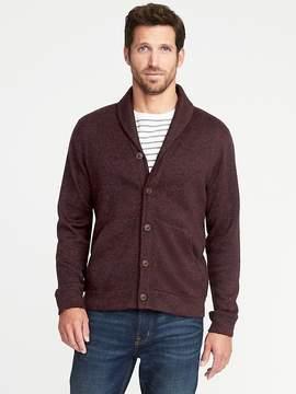 Old Navy Sweater-Knit Fleece Shawl-Collar Cardigan for Men