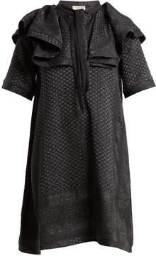 DAY Birger et Mikkelsen CECILIE COPENHAGEN Afterlife scarf-jacquard cotton-blend dress
