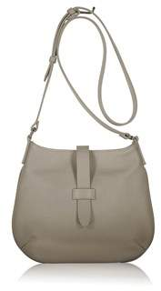 Joanna Maxham Tulip Crossbody In Sand Pebbled Leather.