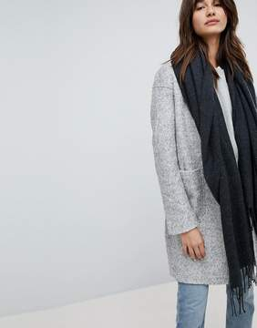 Pieces Woven Herringbone Scarf with Tassels