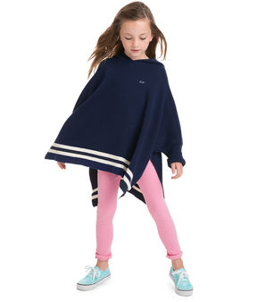 Vineyard Vines Girls Hooded Sweater Poncho