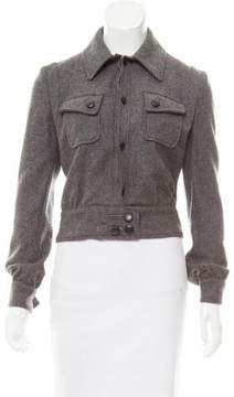 CNC Costume National Cropped Wool Jacket