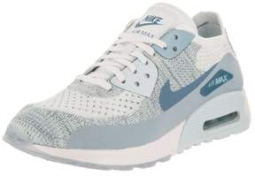 Nike Women's Air Max 90 Ultra 2.0 Flyknit White/Lt Armory Blue Running Shoe 8.5 Women US