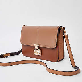 River Island Light brown lock front underarm bag