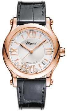Chopard Happy Sport Silver Guilloche Dial Ladies Watch