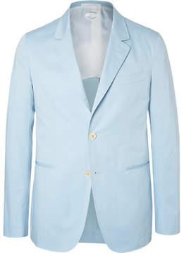 Caruso Blue Slim-Fit Stretch-Cotton Suit Jacket