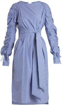 DAY Birger et Mikkelsen TEIJA Tie-waist gingham-cotton dress