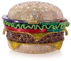 Judith Leiber Couture Hamburger Crystal Clutch Bag