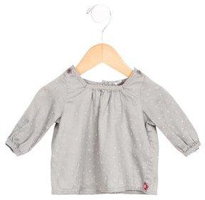 Petit Bateau Girls' Star Patterned Long Sleeve Top
