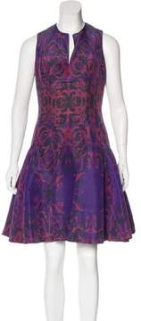 Wes Gordon Silk Abstract Print Dress