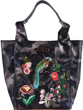 Nicole Lee Krissy Camouflage Embroidery Shopper Bag (Women's)
